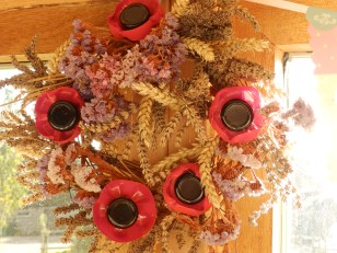 Poppies and corn wreath