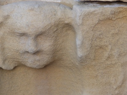 Stone head - Rufford Abbey