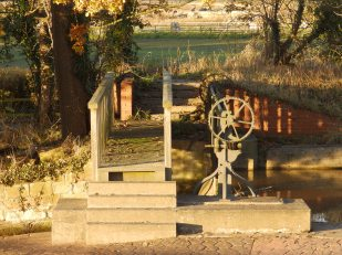 Mill race sluice at Rufford Abbey