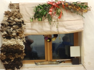 Ecocentre decorated for Christmas