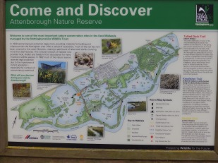 Map of the Attenborough pits