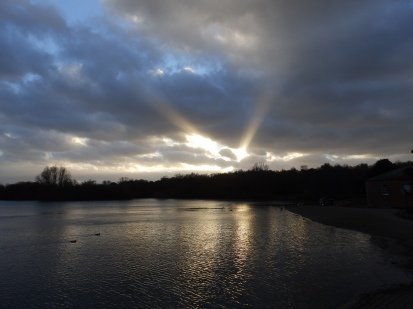 Sunbeams over Nottinghamshire
