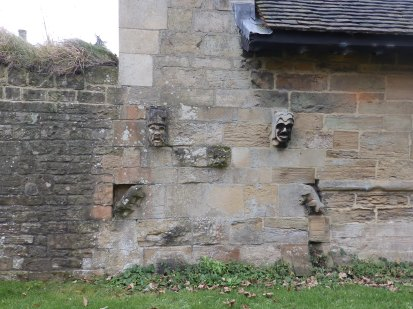 Carvings on the Bishop's Palace - Southwell
