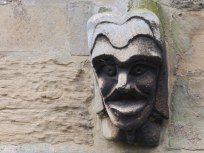 Carved head - Southwell Minster