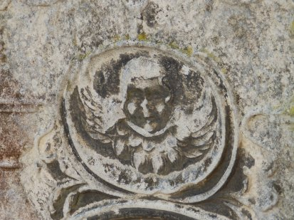 Detail from gravestone - Crowland