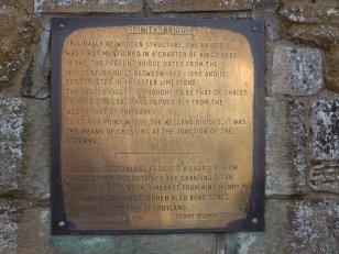 Modern Brass Plaque on Trinity Bridge