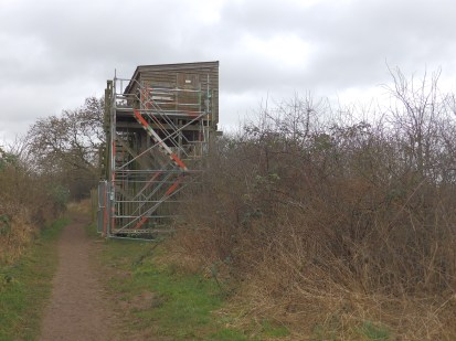 The Hide with temporary steps