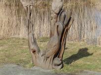 Heron sculpture