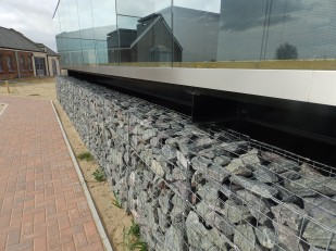 Peaceful use for military gabions