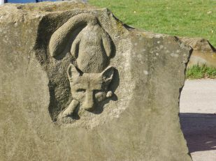 Carving at Sheepwash Car Park - Carsington