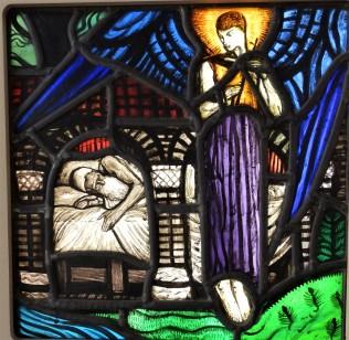 St Joseph and the Angel c 1920 by Wilhelmina Geddes.