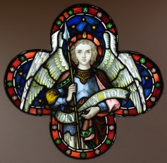 Angel with Spear, 1860s. By N H J Westlake or J M Allen. St Michael's and All Angels, Derby