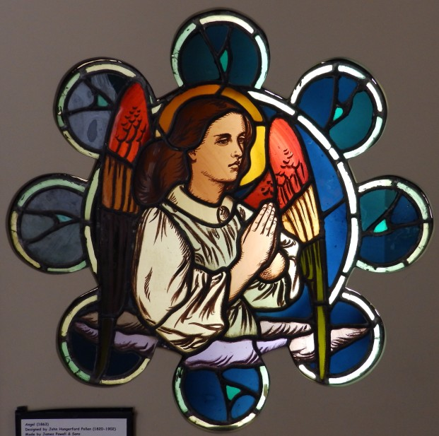 Octofoil window - Angel by John Hungerford Pollen 1863 Our Lady of the Assumption, Rhyl, Denbighshire