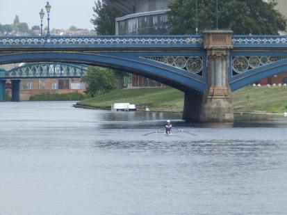 Rowing under Trent Bridge
