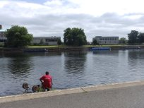 Fishing opposite the County Council offices