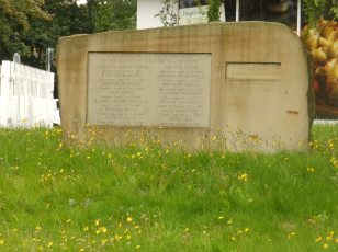 Ackworth Quarrymen Memorial - close up