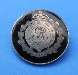 Royal Engineers tortoiseshell brooch