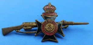 Royal Rifle Corps sweetheart brooch