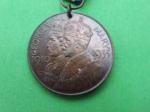 George V silver jubilee medal (obverse)
