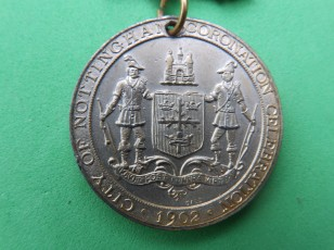Nottingham 1902 coronation medal