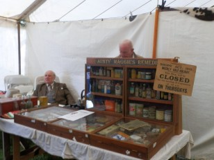 Display of old relics at Flintham Show
