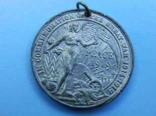 Derby Peace Medal - obverse