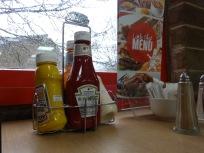Random photo of sauce bottles