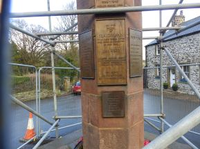 W H Wilson on Slaidburn War Memorial