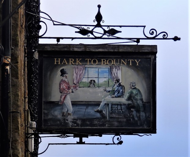 Hark to Bounty Inn sign - Slaidburn