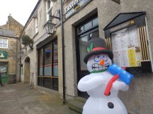 Snowman at Bakewell