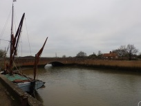 Barge on River Alde at Snape Maltings