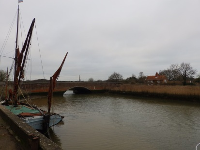 Barge on River Alde at Snape Maltings
