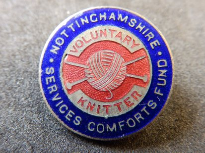 Nottinghamshire Voluntary Knitter Badge - WW1