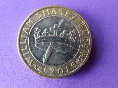 Shakespeare £2 coin - history