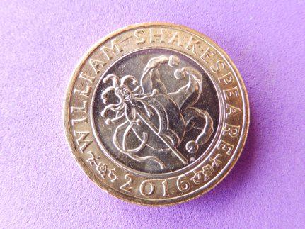 Shakespeare £2 coin - comedy