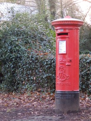 Edward VII pillar box - Orton Longueville