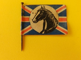 Other side of the horse flag