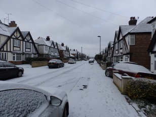 Snow in Sherwood - though not much