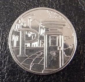 P is for Postbox - new 10p coin