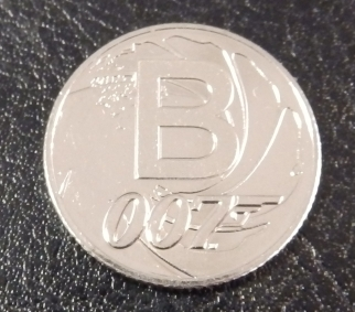 B is for Bond - new 10p coin