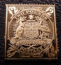 Australia £2 stamp ingot