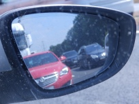 A1 near Grantham - view in the mirror