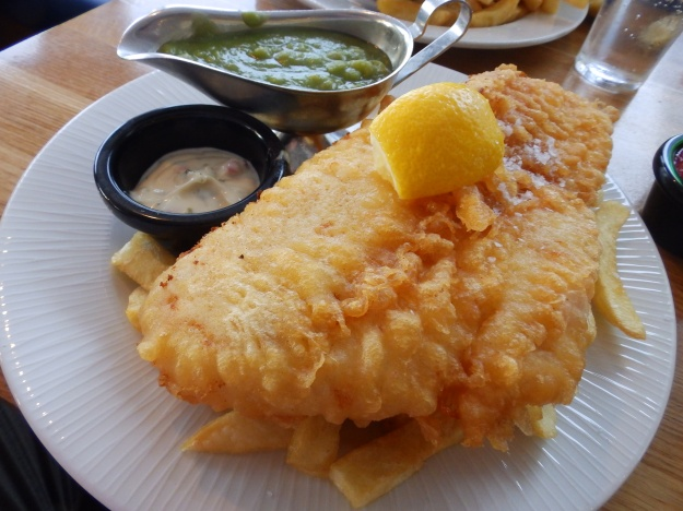 Hake and Chips in Cromer