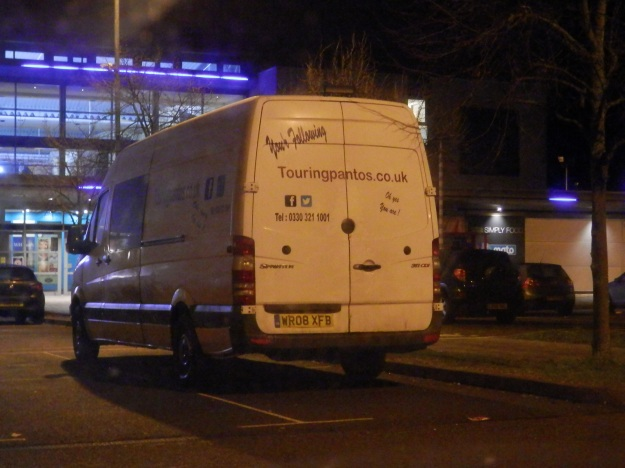 You see some interesting vans, but is that a spelling mistake? Oh yes, it is.