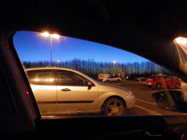 Castle Donnington Services - a hint of dawn as exaggerated by the camera