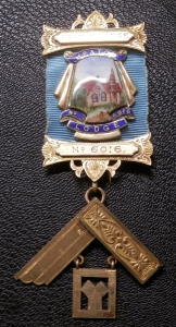 Masonic Past Master's Jewel - Heaton Lodge, Bolton, Lancashire