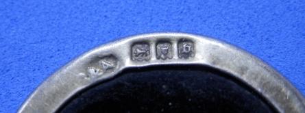 Silver and tortoiseshell ASC WW1 1917 Hallmarks