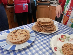 Flatbreads ready to go