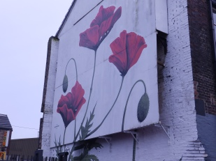 Mural at the PortmeirionShop