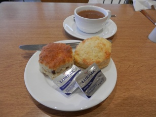 Fruit scone, cheese scone
